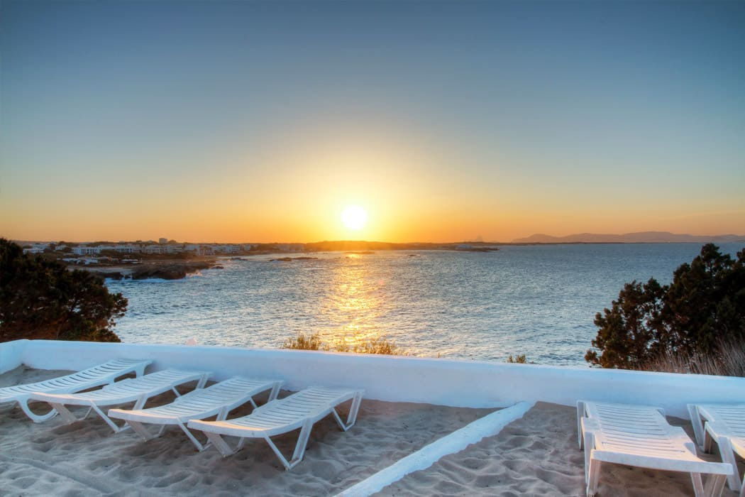 Hotel frente al mar en Formentera